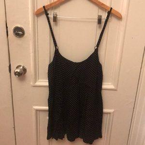 Reformation black mini polka dot jumper